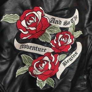 And so the adventure begins leather jacket
